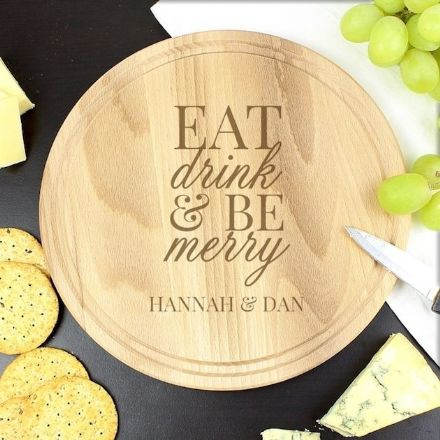 Personalised Round Chopping Board - Eat Drink & Be Merry